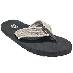 18fb0fb6e698 Teva Men s 1004890 Dune Tan Mush II Canvas Flip Flop Sandals Teva Flip Flops