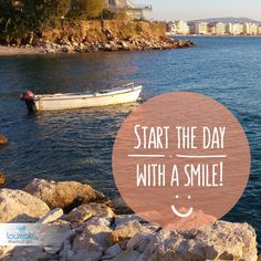 Start the day with a smile! Καλημέρα και καλή εβδομάδα από το #Loutraki και το Loutraki Thermal Spa!