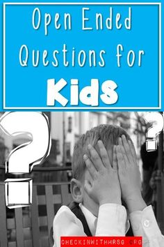 Open ended questions for kids! Build a relationship and foster positive conversations with students by asking open ended questions. Try this list of questions with your students! Teaching Special Education, Teaching Social Skills, Teaching Language Arts, Elementary Education, Teaching Resources, Life Skills Classroom, Kid Check, After School, Classroom Management
