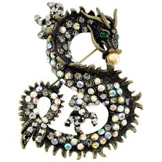 Vintage Style Chinese Dragon Pin Animal Pin Brooch and Pendant - Overstock™ Shopping - Big Discounts on Brooches & Pins