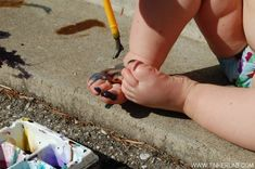 Outdoor Body Painting & Tips for Outdoor Painting with Kids