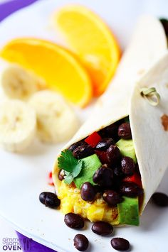 Classic Black Bean & Avocado Breakfast Burrito | 18 Breakfast Burritos Worth Waking Up For