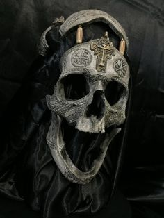 PRE-SALE 4th Run - #001 of 5 - Signed and Numbered - The War Chaplain - Real Human Skull Replica Carved By Zane Wylie