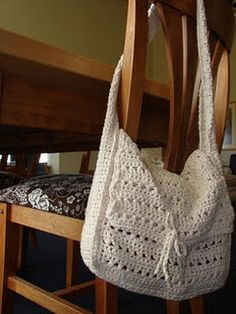 cotton crochet bag--love this. Wish it was a pattern. Looking for a pattern like this