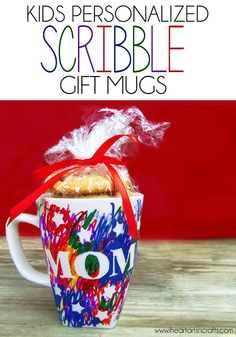 Kids Personalized Scribble Gift Mug - An easy gift the kids can make for the holidays!