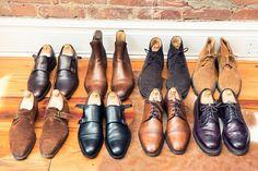 howtotalktogirlsatparties: The Sartorialist's footwear.
