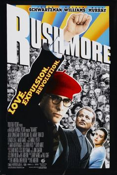 Directed by Wes Anderson. With Jason Schwartzman, Bill Murray, Olivia Williams, Seymour Cassel. The extracurricular king of Rushmore Preparatory School is put on academic probation. Bill Murray, Wes Anderson, Kristin Scott Thomas, Danny Devito, Robin Williams, Ryan Gosling, Hd Movies, Movie Tv, School