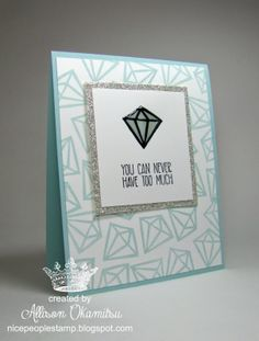 nice people STAMP!: UNDEFINED Diamond Hand Carved Stamp Card - by Allison Okamitsu