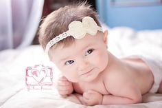 Baby Headband .. Newborn Headband .. Toddler Headband .. Ivory Bow by LovelyLiliesBoutique on Etsy https://www.etsy.com/listing/172268902/baby-headband-newborn-headband-toddler