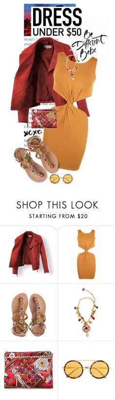 """""""Dress Under $50"""" by shortyluv718 ❤ liked on Polyvore featuring WearAll, Laidback London, Dolce&Gabbana, Simone Camille, Wildfox, contestentry and Dressunder50"""