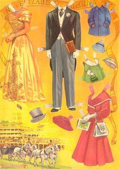 Coronation of Queen Elizabeth II 1953 Paper Dolls