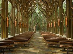 Anthony Chapel, Garvan Woodland Gardens, Hot Springs, Arkansas. Maurice Jennings + David McKee Architects, 2006... http://www.mauricejennings....