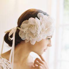 Wedding Silk flowers, bridal headband, bridal hair piece, 1920s, bridal cap, Style 1923