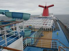 Covering over pool area on Lido deck