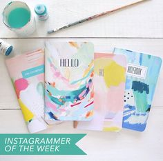 Britt's art reminds me of an endless summer. So simple. So colourful. http://prettypaperthings.com/?p=6170
