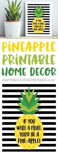 """If you were a fruit, you'd be a fine-apple!"" These cute pineapple printables will make a fantastic and stylish addition to your home decor! Bonus pineapple gift tags are perfect for gift-giving!"