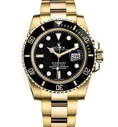 Rolex Submariner Yellow Gold Watch Black Dial 116618 Unworn 2016 Check https://www.carrywatches.com