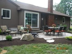Landscape Around Concrete Patio Slab Google Search