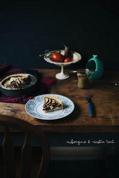 aubergine and ricotta tart by julie marie craig