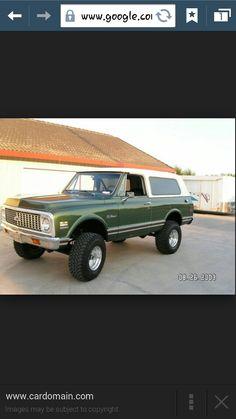 72 Chevy Blazer- I want so Bad!