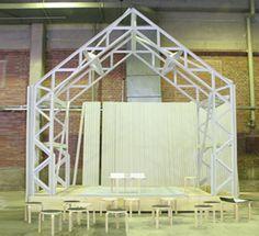 shigeru ban's pavilion for artek -a milan furniture fair 2007 - front view