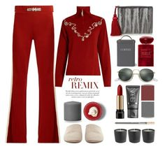 """""""Hoedown in Motown"""" by sherieme ❤ liked on Polyvore featuring Hillier Bartley, BCBGMAXAZRIA, Wales Bonner, Garden Trading, LORAC, NARS Cosmetics, Giorgio Armani, Lancôme, Ray-Ban and redlipstick"""
