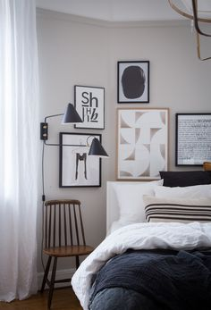 my scandinavian home: Get the look from Gen's beautiful bedroom #gallerywall