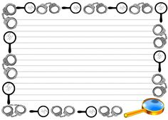 Handcuffs and Spy Glass themed lined paper and pageborders for FREE at: http://www.sharemylesson.com/teaching-resource/Handcuffs-And-Spy-Glass-Themed-Paper-for-Writing-50013802/