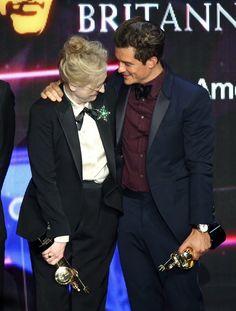 Pin for Later: Die Hollywood-Stars feierten bei den Britannia Awards Meryl Streep und Orlando Bloom