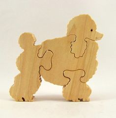 Poodle Wood Puzzle by rjawoodworking on Etsy, $13.50