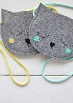 Cute kitty purse inspiration to make http://amzn.to/2k2HTMQ