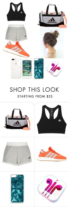 """""""Adidas Workout Outfit"""" by pastelcady ❤ liked on Polyvore featuring adidas, Zero Gravity and PhunkeeTree"""