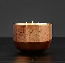 Mercury Glass Luxury Candle Large - Copper/Silk Road
