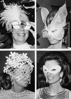 """The Black and White Ball"" - A  masquerade ball held on November 28, 1966 at the Plaza Hotel in New York City, USA. Hosted by author Truman Capote in honor of The Washington Post publisher Katharine Graham."