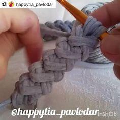 """236 curtidas, 4 comentários - Elisa (@fiosdemalha) no Instagram: """"Aquela alça de bolsa que adoramos video de @happytia_pavlodar ❤️ . #Trapilho #fiosdemalha…"""""""
