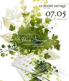 Green Leaf Collage Brochure Design