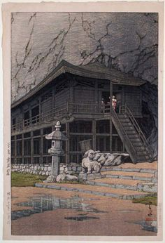 Takkoku Cave, Hiraizumi, c. 1936 by Hasui Kawase