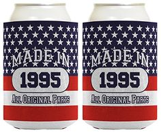 21st Birthday Gift Coolie Made 1995 Can Coolies 2 Pack Can Coolie Drink Coolers Coolies Patriotic