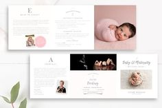 Premium Fresh Newborn Pricing 5x5 Accordion PSD - Recommended by Creative Sofa - 15$