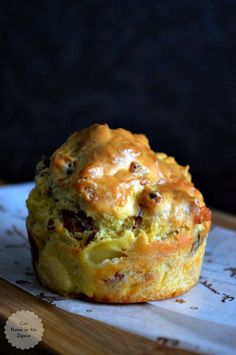 Ham and Cheese Muffins - With Flour In My Shoes, Donut Muffins, Cheese Muffins, Breakfast Muffins, Breakfast Recipes, Snack Recipes, Morning Glory Muffins, Muffins Blueberry, Quiches, Scones Ingredients