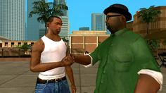 Clifton Powell and Young Maylay in Grand Theft Auto: San Andreas