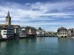 The Limmat River in Zurich Zurich, Greatest Hits, Switzerland, Travel Inspiration, River, Rivers
