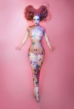 Butterfly long dress-Mademoiselle Ilo by Mademoiselle-Ilo.deviantart.com on @deviantART