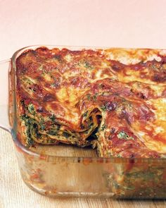 Vegetable Lasagna - Martha Stewart Recipes. A success at learning team dinner in December 2012.