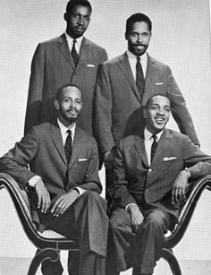 The Modern Jazz Quartet was an influential music group established in 1952 by Milt Jackson (vibraphone), John Lewis (piano, musical director), Percy Heath (double bass), and Kenny Clarke (drums). Description from pinterest.com. I searched for this on bing.com/images