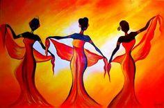 From Art Décor 'African Landscapes', artist unknown Arte Tribal, Tribal Art, African American Artwork, African Art Paintings, Acrilic Paintings, Haitian Art, Art Beat, Indian Folk Art, Africa Art