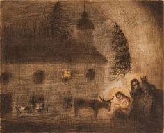 Buildings, Paintings, Christmas, Art, Auction, Yule, Xmas, Paint, Painting Art