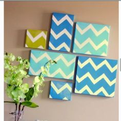 """DIY """"wall canvas"""" you can make these out of shoebox tops:)"""