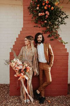 This desert wedding in Joshua Tree is equal parts boho and glam | Image by Karra Leigh Photo