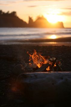 campfire, beach, la push, washington